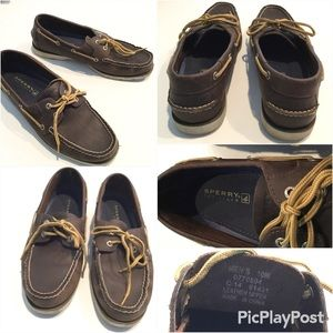 Sperry Brown Boat Shoes, SZ.10